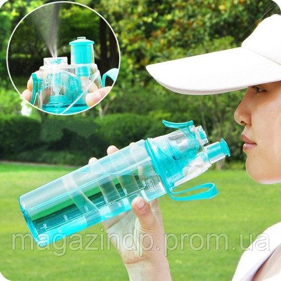 08b8d89d22c8 Спортивная бутылка для воды с распылителем New B blue Код 121968 ...