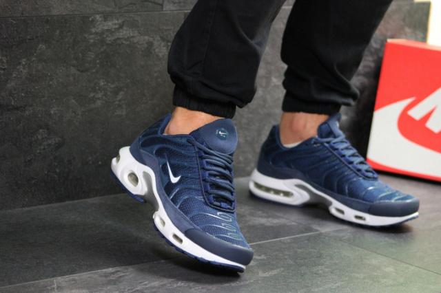 38c89535 Мужские кроссовки синие с белым Nike Air Max TN 7277: продажа, цена ...